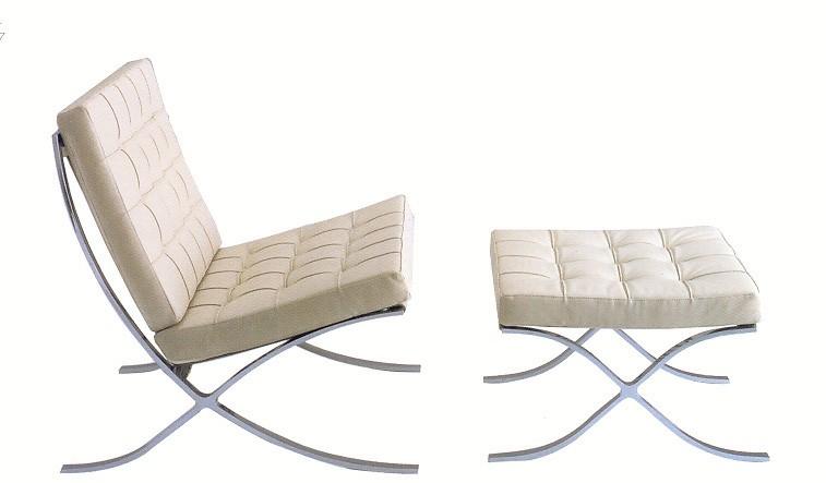 Кресло с оттоманкои БАРСЕЛОНА коллекция MODERN CLASSIC