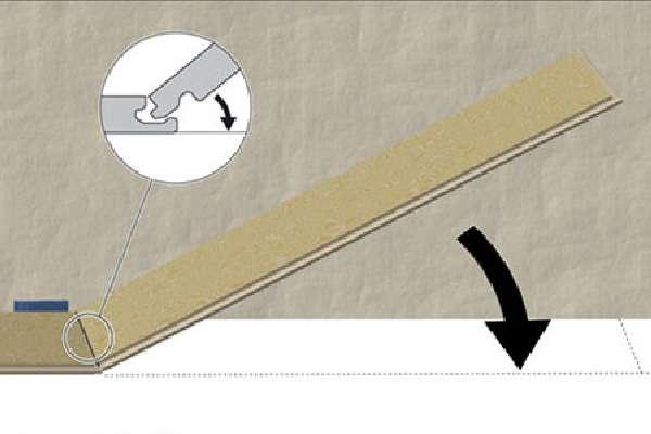 Схема правильной стыковки ламината