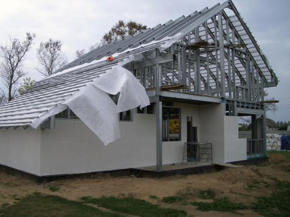 использование СМЛ в каркасном домостроении