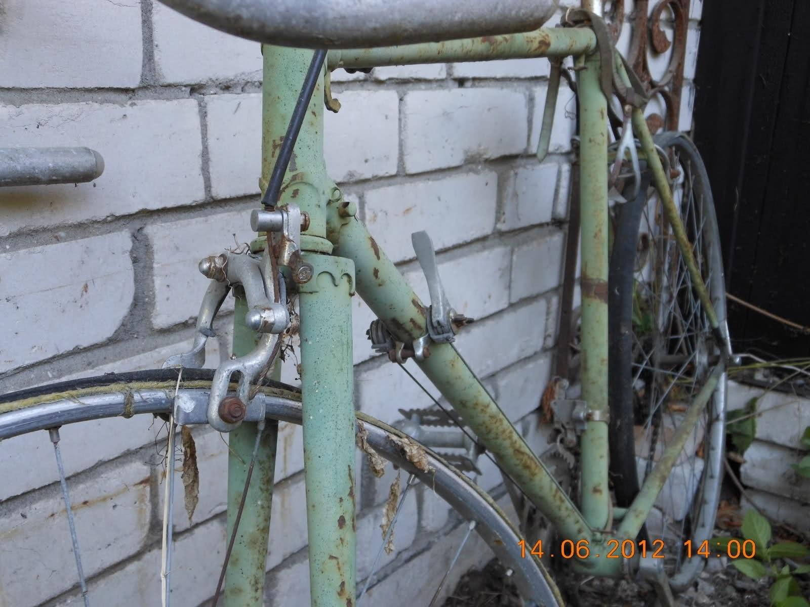 Малая архитектурная форма из старого велосипеда